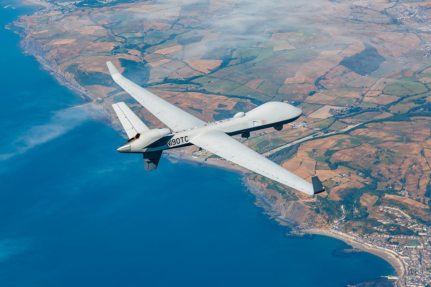 MQ-9B SkyGuardian flies across Atlantic for RAF100 event